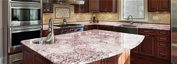Ash Pink Marble Jaspe Rose Marble Countertops Mexico Kitchen