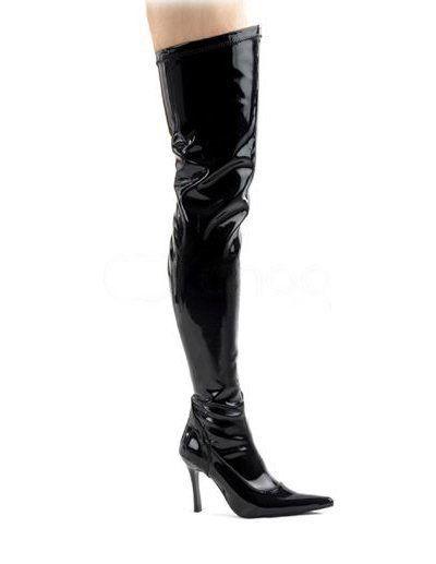 Black 4'' High Heel Beautiful PU Fashion Shoes