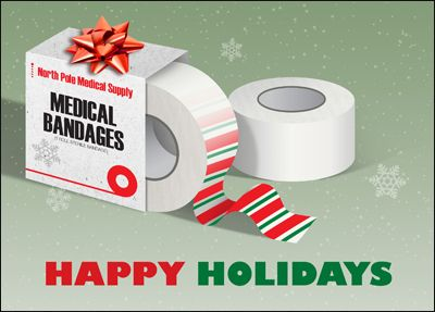 Wrap up you christmas preparation with the medical holiday greeting wrap up you christmas preparation with the medical holiday greeting card that humorously features bandage tape m4hsunfo