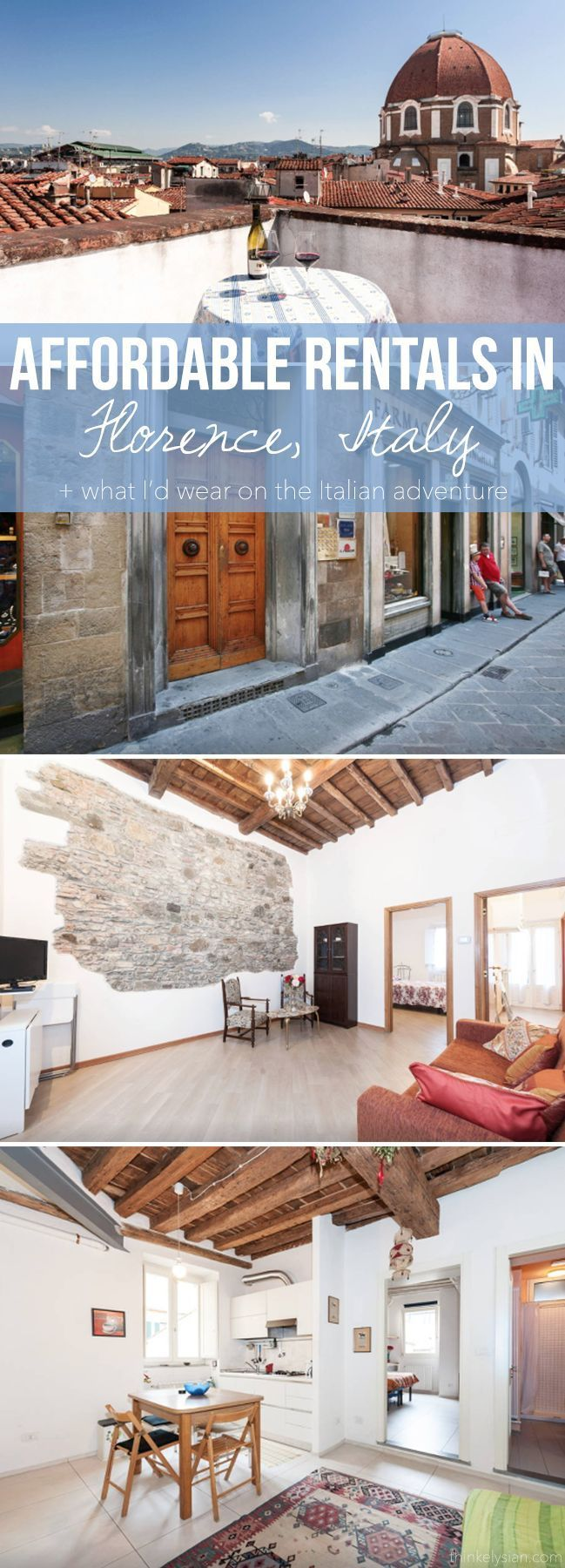 Affordable rentals in Florence, Italy + What I'd wear on the Italian vacation // thinkelysian.com