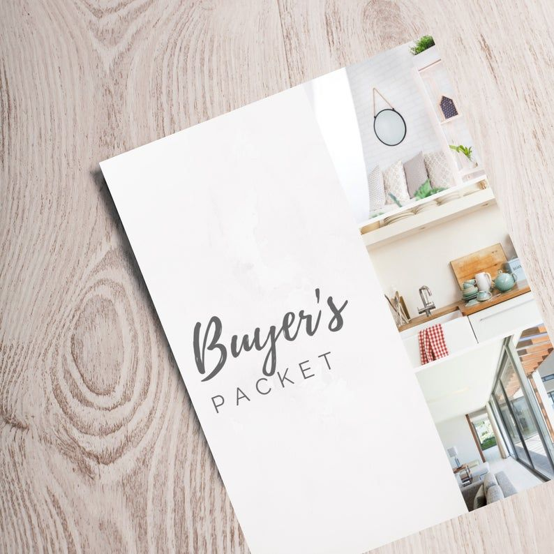 Real Estate Buyer's Packet, Real estate home buyer guide, Real estate marketing, Realtor marketing tools, Canva editable & download PDF