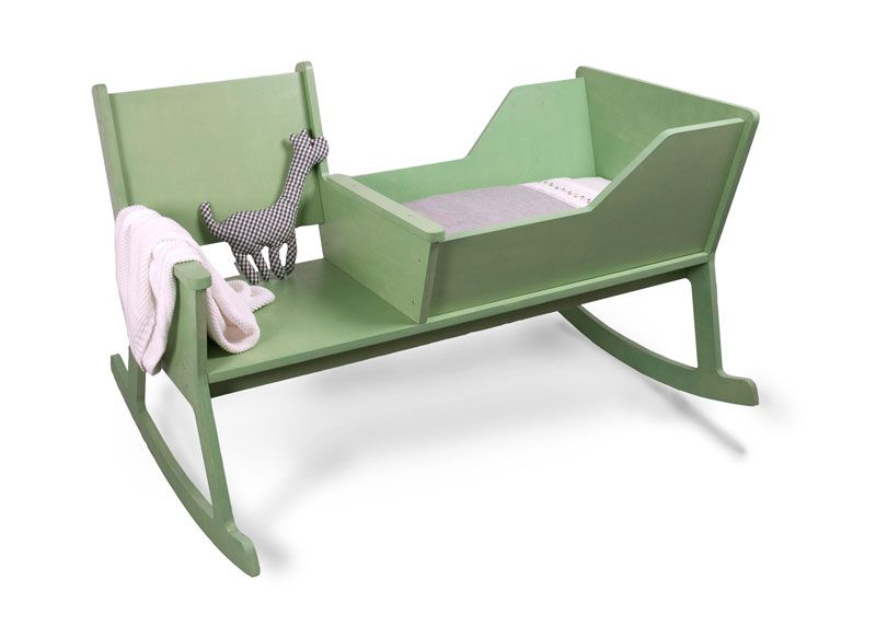 cute and comfortable rocking chair with baby cradle kids stuff