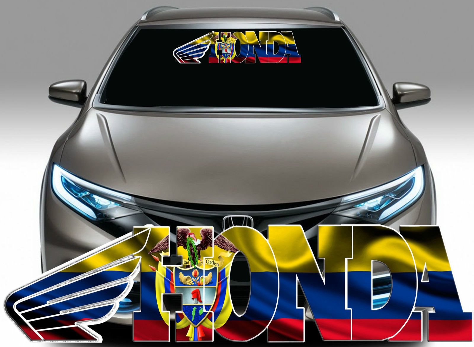 X Colombia Flag Decal Colombian Flag Decal Sticker Fits Honda - Honda decal stickers for cars