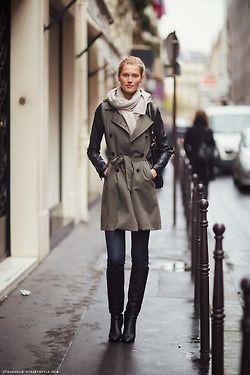 Toni Garrn. Sharp styling. Chic. ~