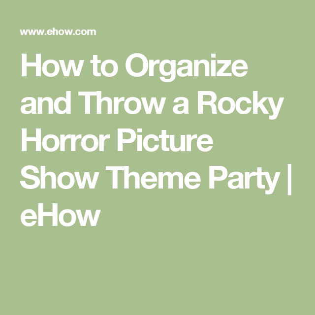 an analysis of the topic of the rocky horror picture Rocky horror picture show arts 'rocky horror,' 'hedwig' and the 'phil spector incident' all pay homage to camp and rock & roll music by ashley jude collie, contributor.