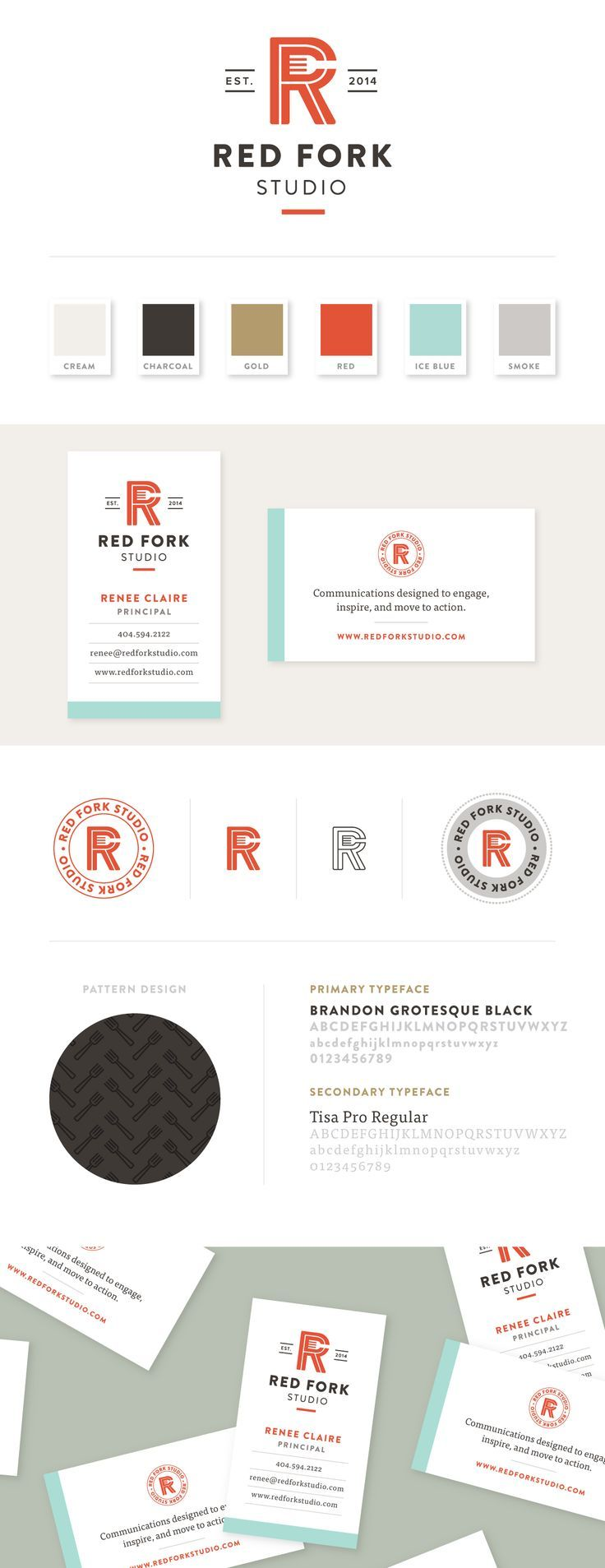 Red Fork Studio Graphic design branding, Identity design