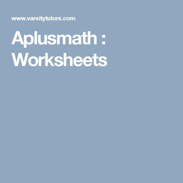 Aplusmath : Worksheets | Maths | Pinterest | Worksheets, Printable ...