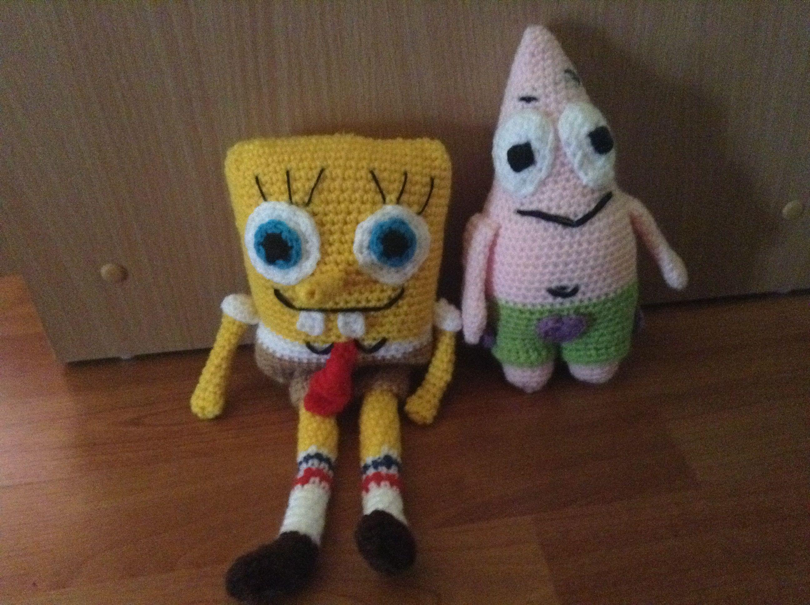 migliore a buon mercato foto ufficiali selezione migliore SpongeBob and Patrick crochet Amigurumi