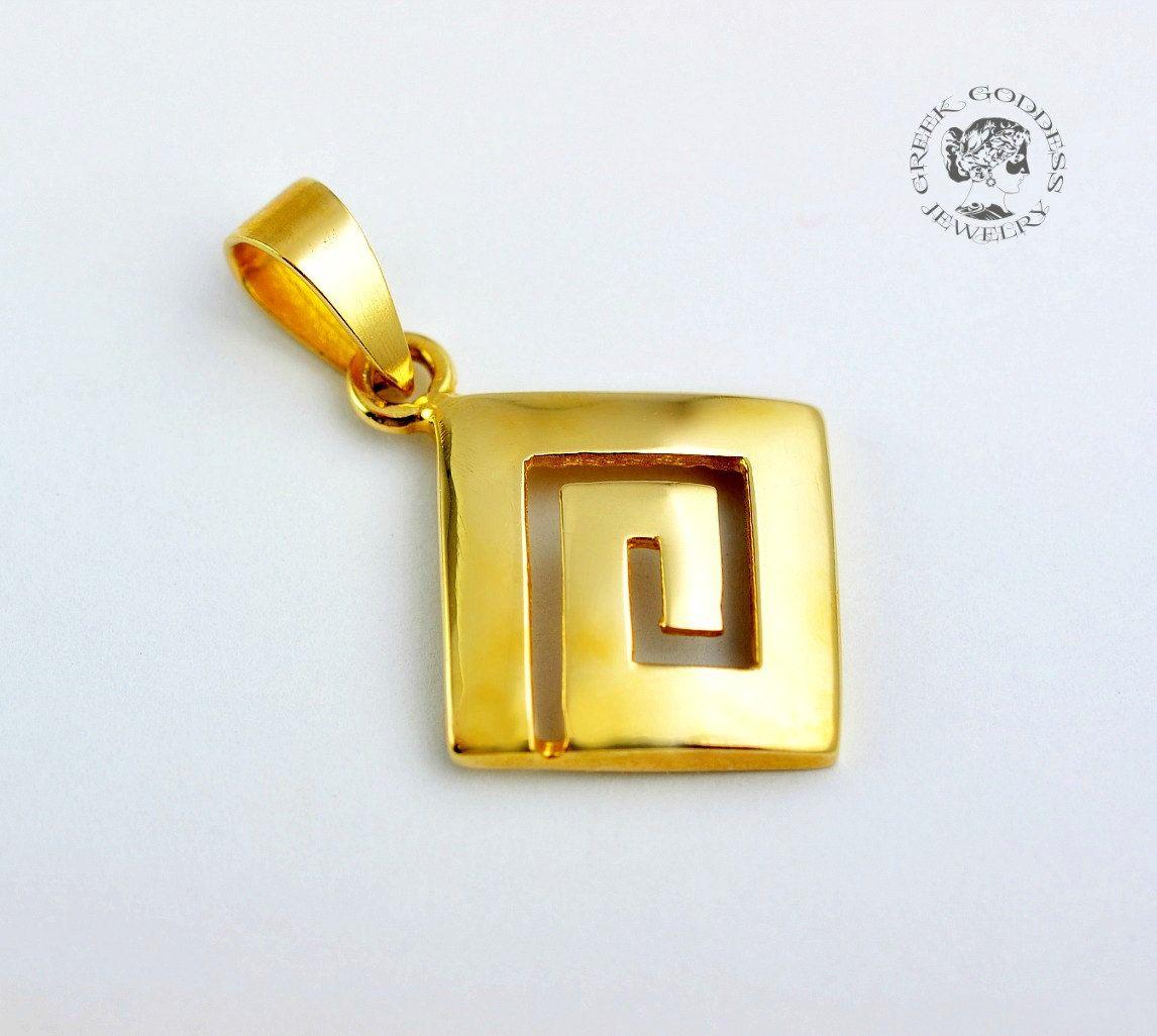 Greek key gold pendant greek key 14 k gold pendant greek key greek key gold pendant greek key 14 k gold pendant greek key pendant aloadofball Choice Image