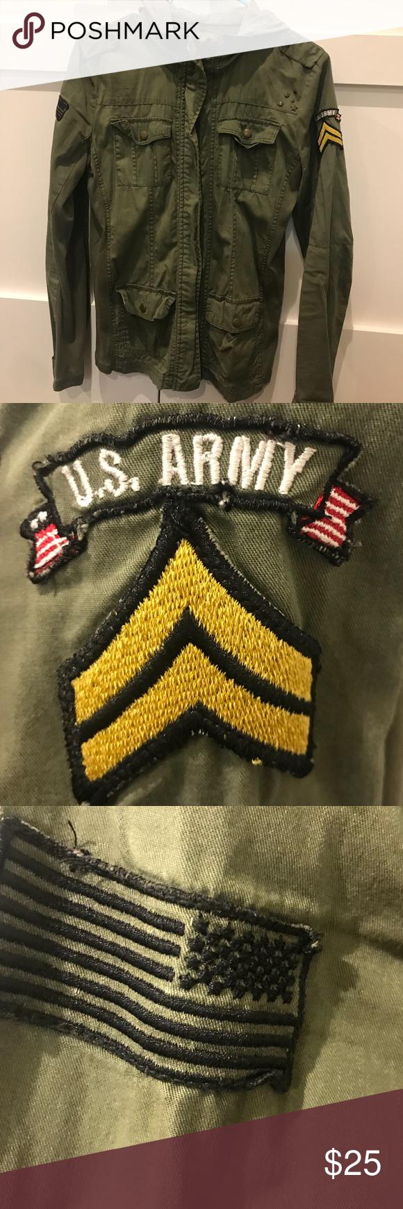 Hunter green army jacket