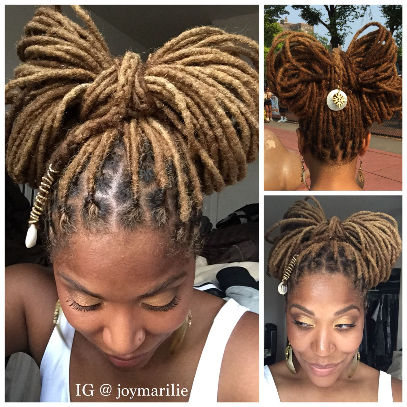 Local Bow Locs Hairstyles Natural Hair Styles Hair Styles