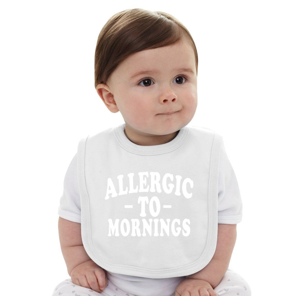 I'm Allergic To Mornings Baby Bib