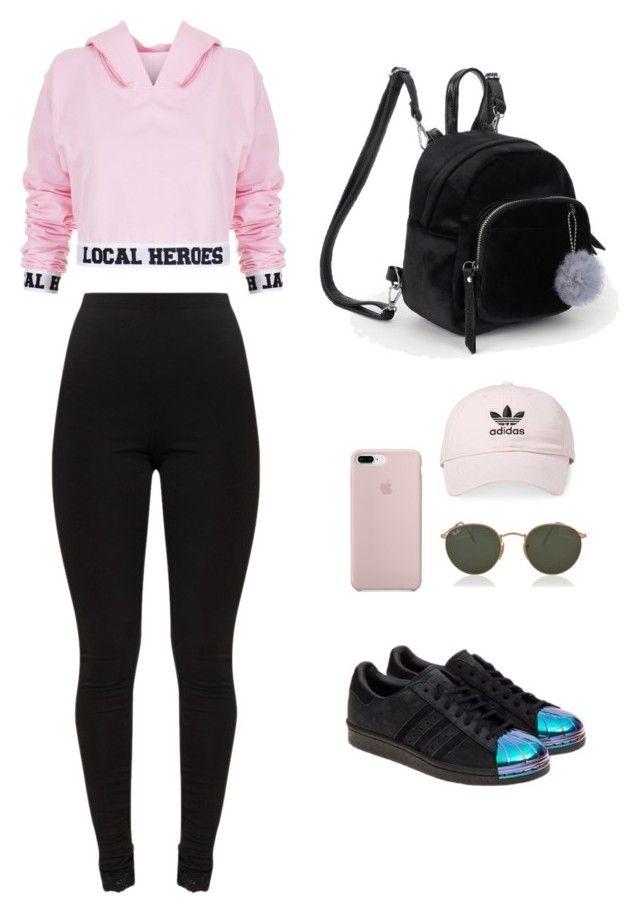 Fashion Look Featuring adidas Teen Girls' Sweats & Hoodies