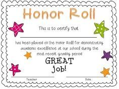 This is a free honor roll certificate for the primary grades hope this is a free honor roll certificate for the primary grades hope you enjoy yadclub Gallery