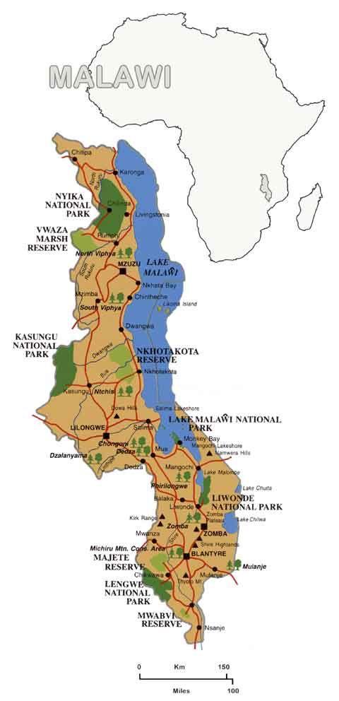 Lake Malawi Africa Map.A Map Of Malawi Showing Just How Large Lake Malawi Is Amazing