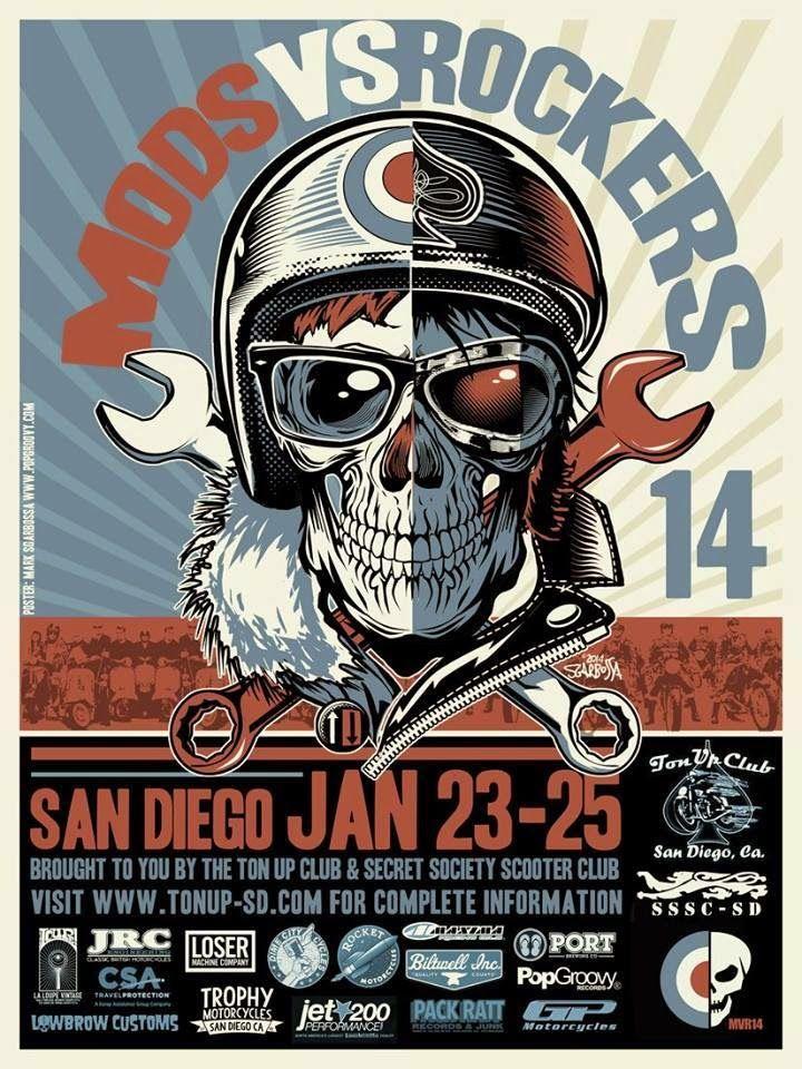 Mods Vs Rockers Rocker Gig Posters Motorcycle Artwork