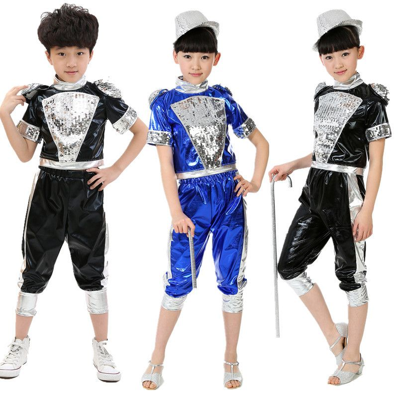 4429af510 Free Shipping Gorgeous Children Boys Girls Jazz Dance Costumes Hip ...