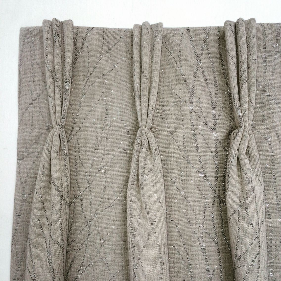 Triple pinch pleat curtains with matching Roman blinds in Voyage ...
