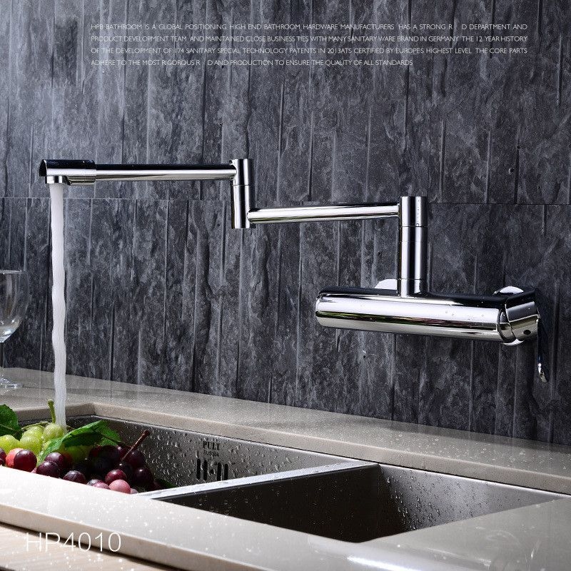 Chrome Folding Kitchen Faucet | Pot filler faucet, Mixer taps and Faucet