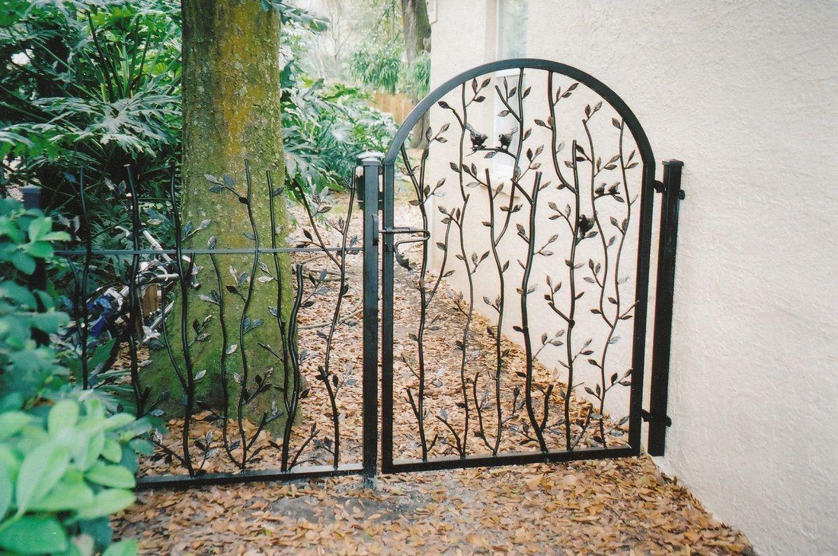 Small Iron Garden Door With Simple Design Metal Garden Gates