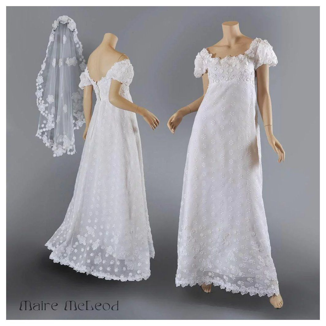 Vntg Priscilla of Boston 1960\'s Wedding Gown w / Veil S-M | Veil ...