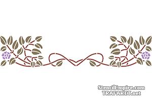 Ruusunmarja art nouveau -tyyliin 17c | sisustus sabloni | ostaa verkosta