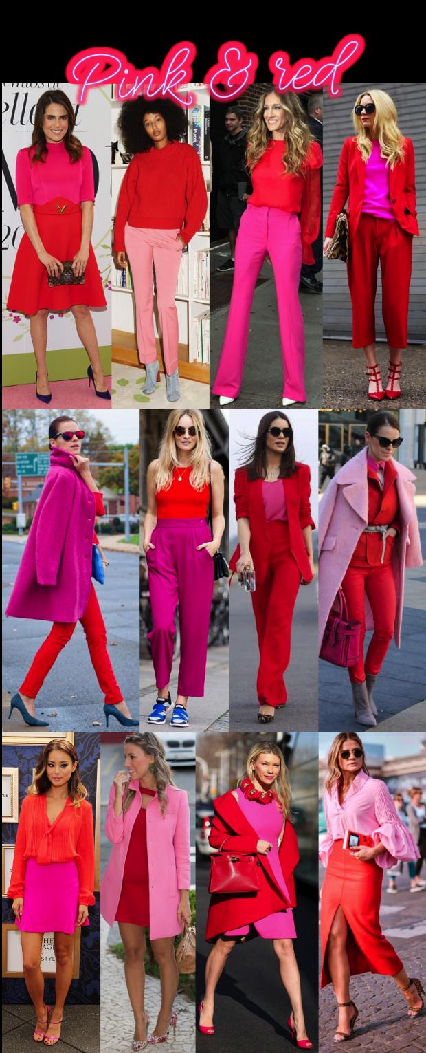 A volta do colorblocking: Vermelho e rosa!