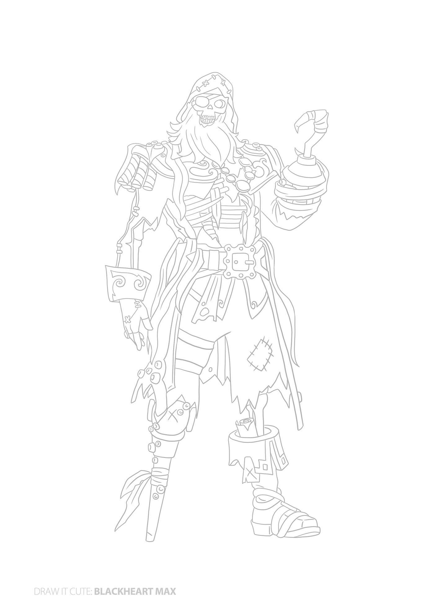 How To Draw Blackheart Max Fortnite Season 8 Tutorial On Behance Drawings Drawing Tutorial Sketches Tutorial
