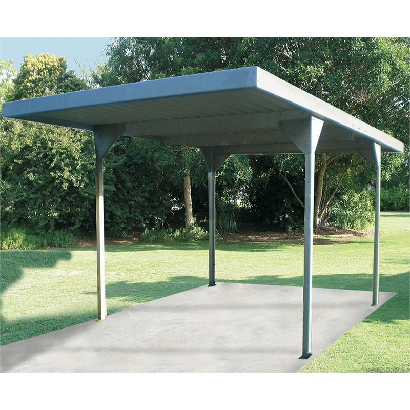 Carport Skil Roof Single Absco 3x5 5x2 25m W50 Zinc Zacpsw50 Skillion Roof Outdoor Sheds Carport