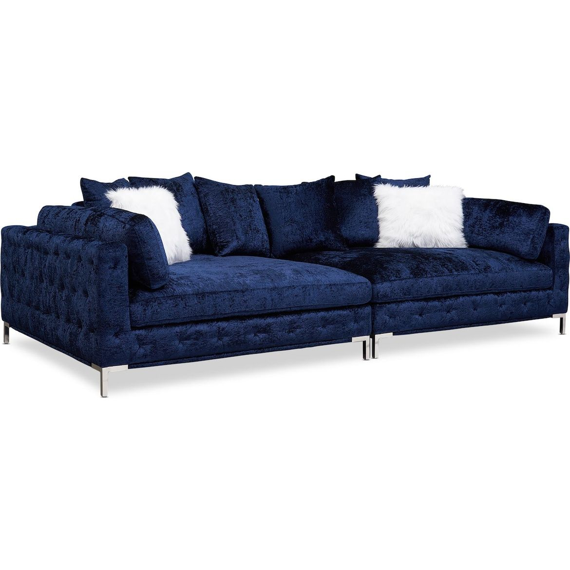 Milan 2 Piece Sofa Value City Furniture And Mattresses In 2020 Sofa And Loveseat Set Value City Furniture Furniture
