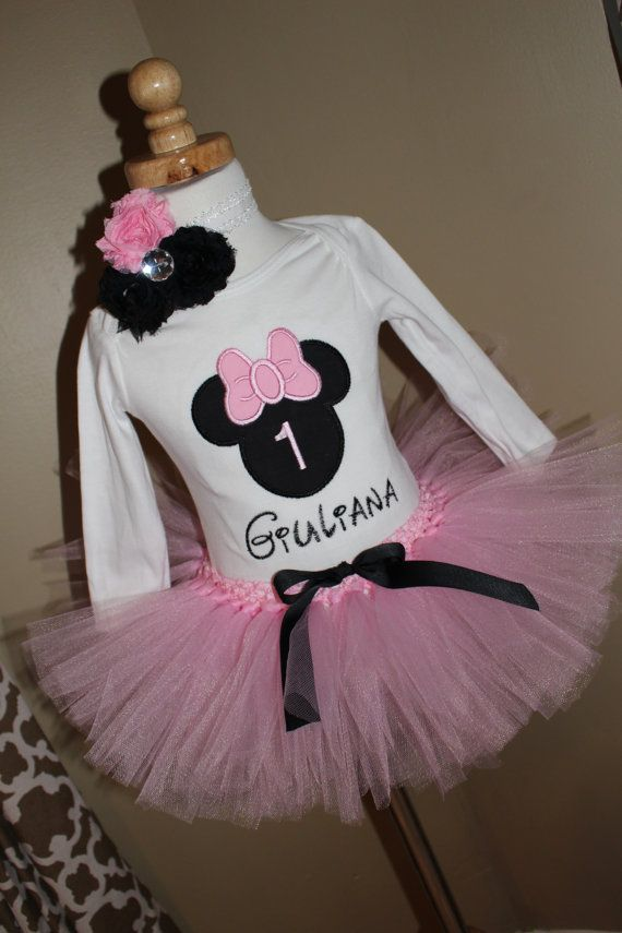 15ae204e2 Baby Girls Minnie Mouse 1st Birthday TUTU Outfit  1st 2nd 3rd 4th ...