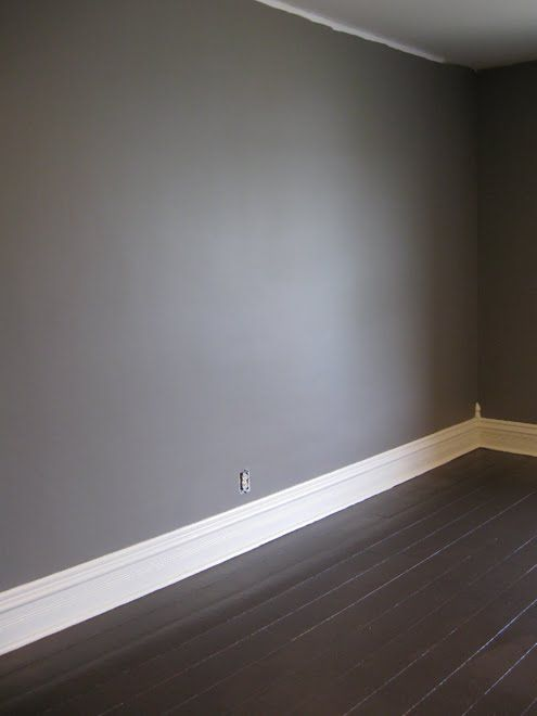 Darkish gray walls residential potential pinterest for Wood floor paint colors