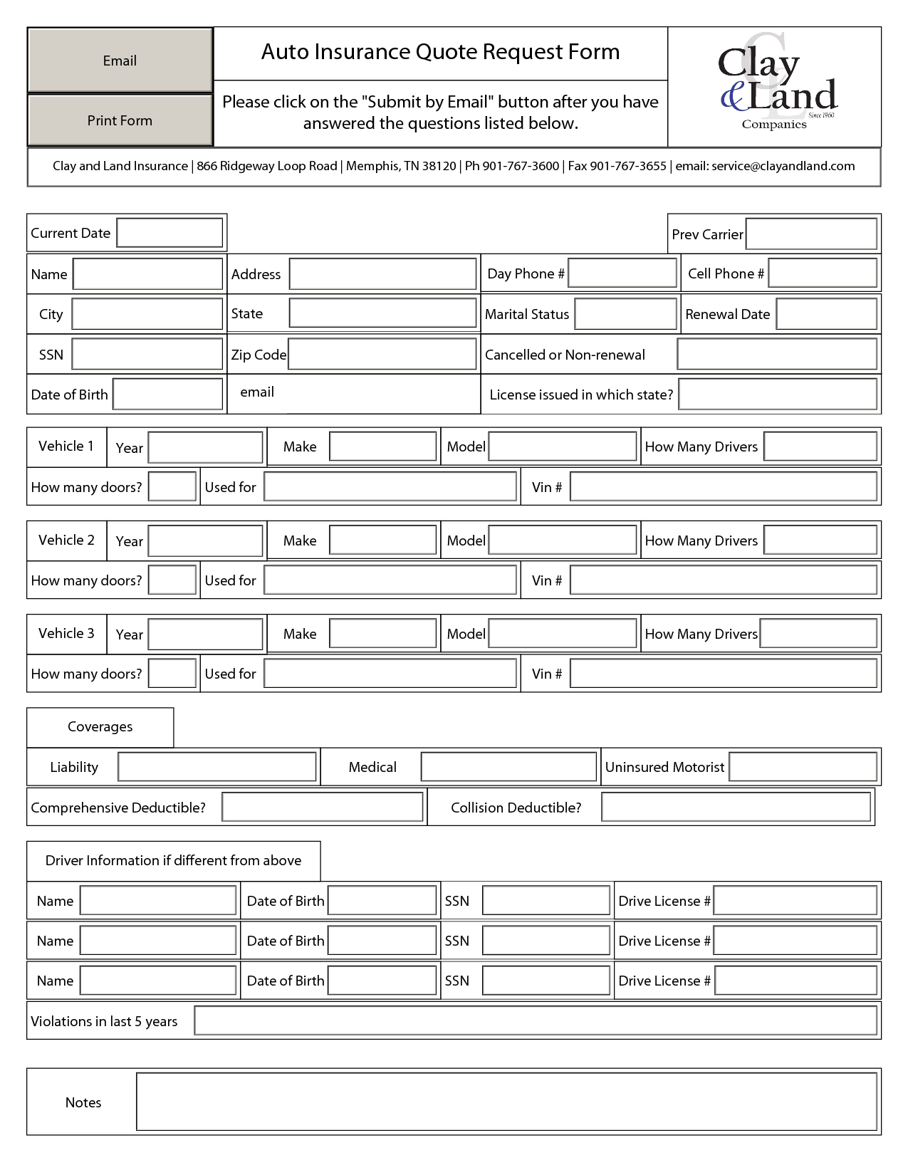 Insurance Spreadsheet Template In
