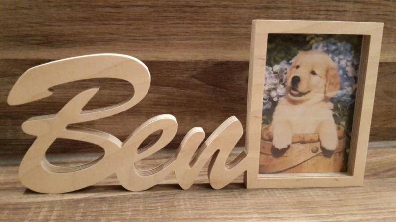 Bilderrahmen Rahmen Aus Holz Mit Namen Individuell Geschenk Bild Individuelle Geschenke Geschenk Bilder Bilderrahmen