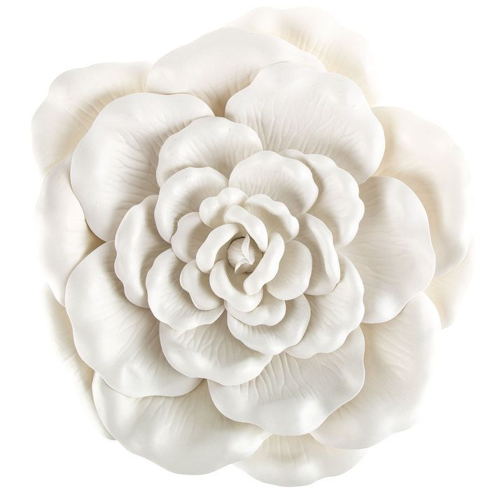 White Wild Rose Wall Decor Large Flower Wall Decor
