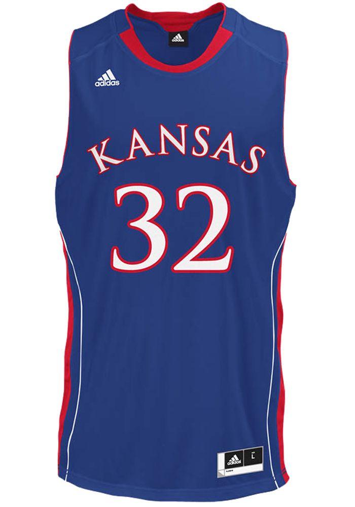 c89f32fbc4f Kansas Jayhawks Youth Royal Blue  32 Replica Basketball Jersey