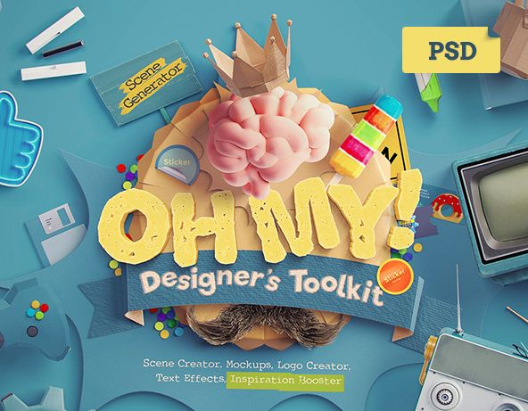 "다음 @Behance 프로젝트 확인: ""Oh My! Designer's Toolkit"" https://www.behance.net/gallery/35614527/Oh-My-Designers-Toolkit"