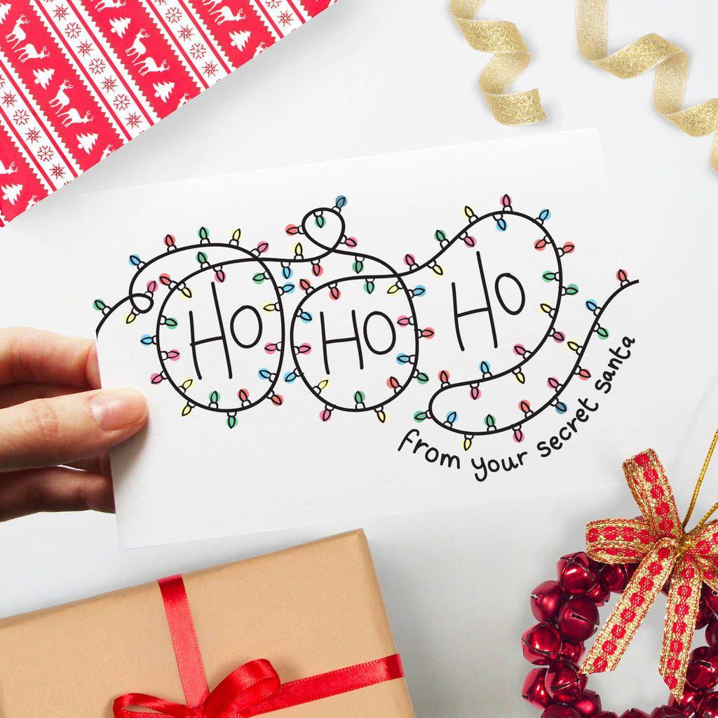 Secret Santa Merry Christmas Card