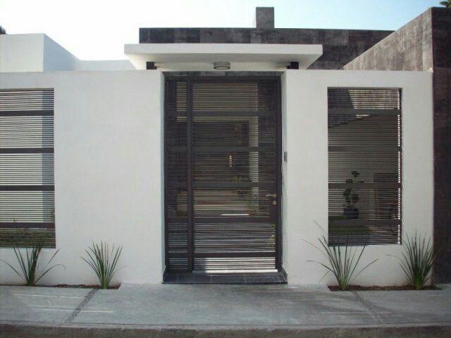 Sensacional cuadrada y minimalista home pinterest - Rejas de casas modernas ...