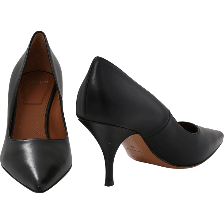 4e90f4e68 Givenchy 'Infinity 80' Black Leather Pumps as seen on Meghan Markle, the  Duchess of Sussex
