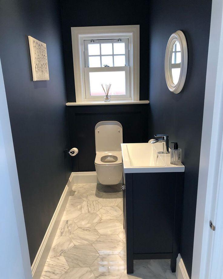 Our dark blue bathroom on the ground floor is still one of ...