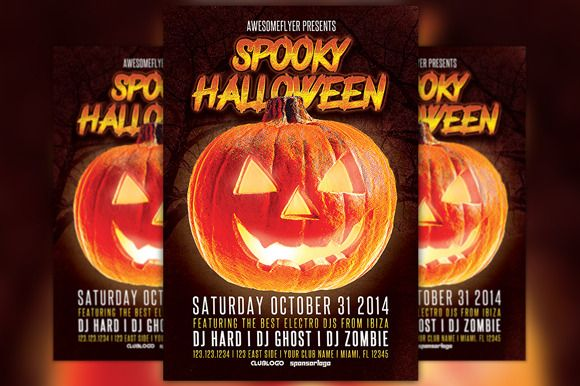 Trick or Treat Halloween Party Flyer Creative, Halloween and Flyers - zombie flyer template