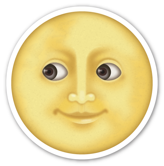Full Moon with Face Moon emoji, Moon face, Emoji stickers