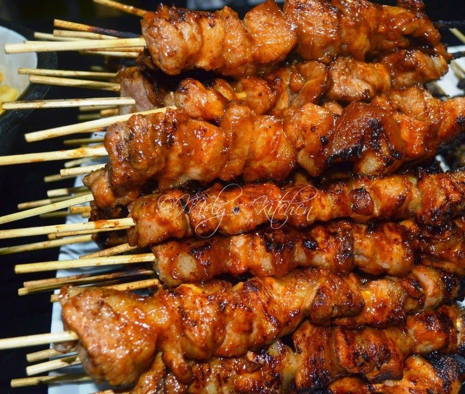 Grilled Filipino Pork Belly BBQ Skewer (Marinated with Sprite, Ketchup ...