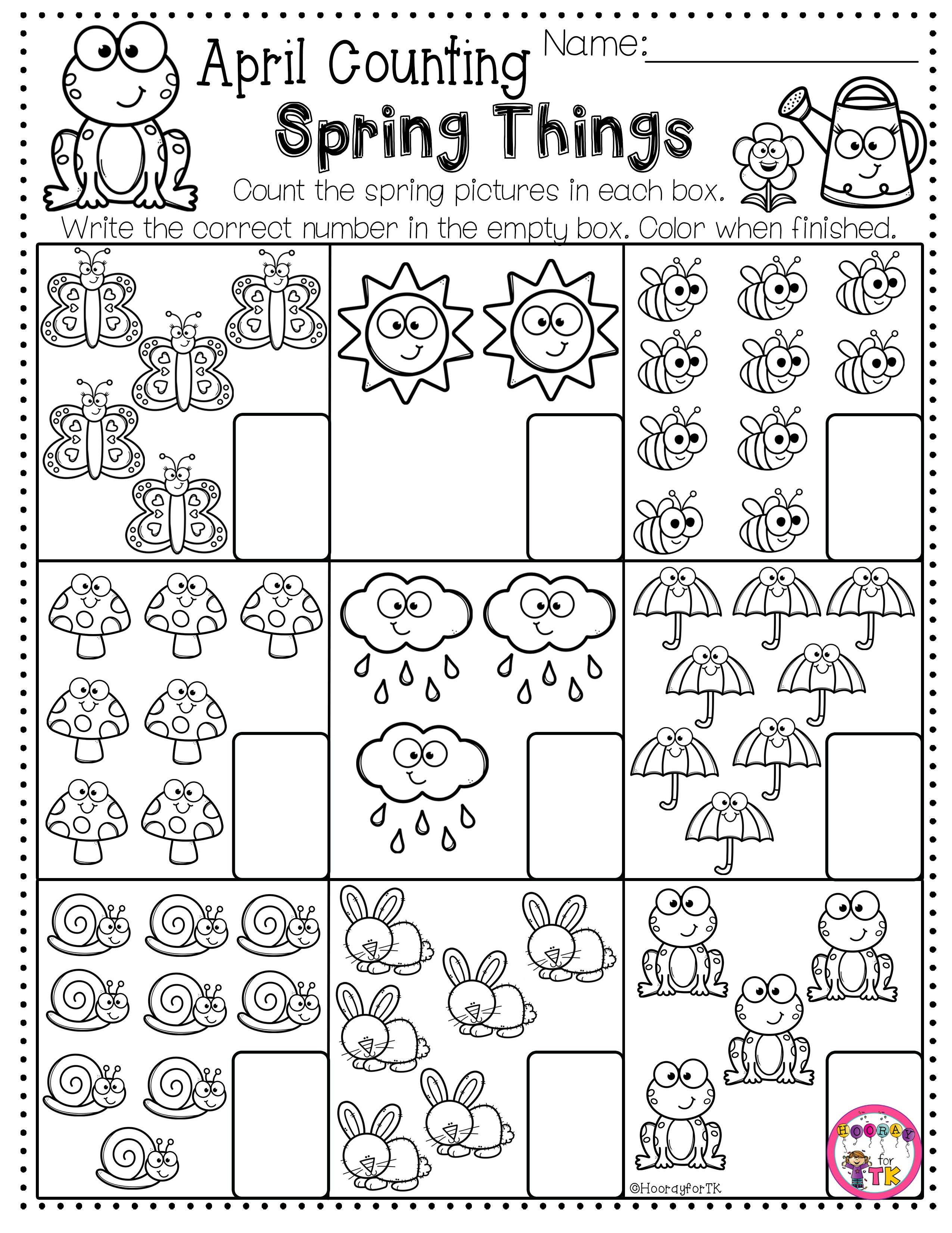 Spring Worksheets Spring Math Worksheets Spring Worksheets Kindergarten Spring Worksheet [ 3300 x 2550 Pixel ]