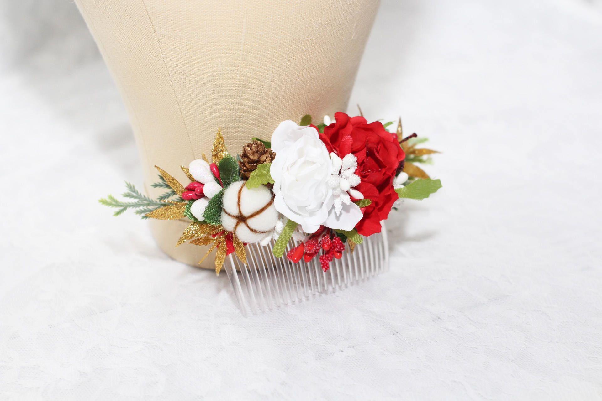 Winter wedding hair accessories Bridesmaid