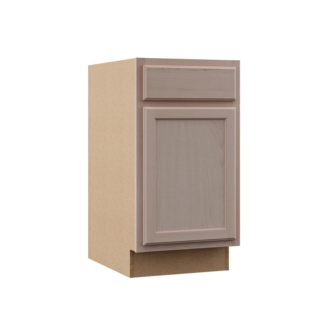 Hampton Bay Hampton Assembled 18x34 5x24 In Base Kitchen Cabinet In Unfinished Beech Kb18 Uf Unfinished Cabinets Wood Door Frame How To Install Countertops