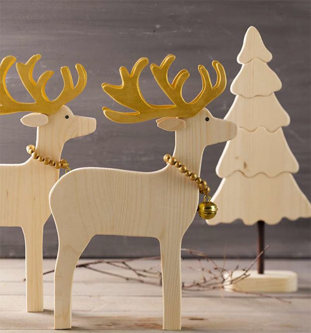 Weihnachtsdeko aus holz selber machen tiere figuren zum for Weihnachtsdeko selber basteln holz