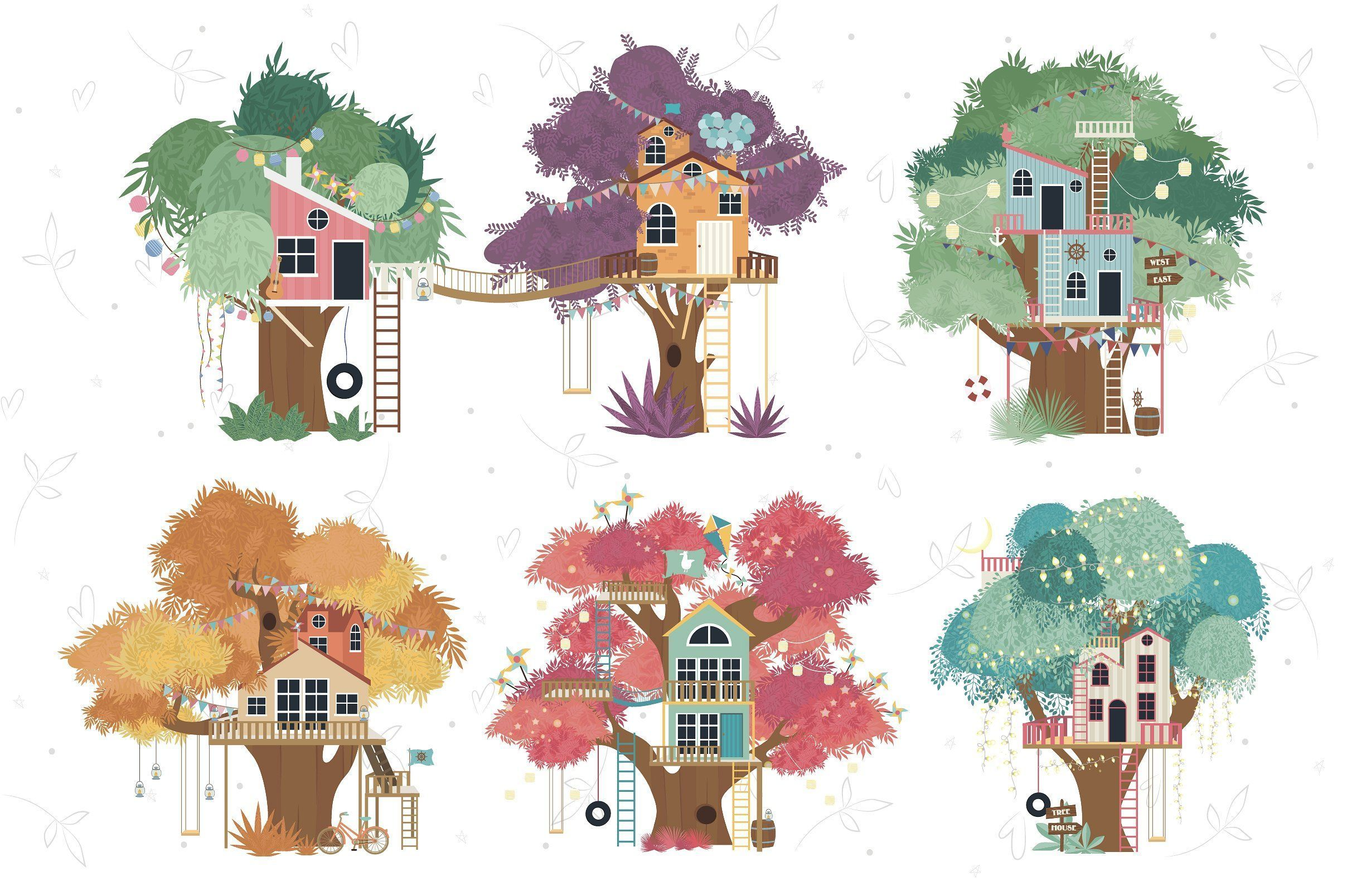 Tree House Collection Birthday Party Unique Decoration Tree House Collection Birthdaypartyuniquede In 2020 Tree House Drawing House Illustration Tree House Kids