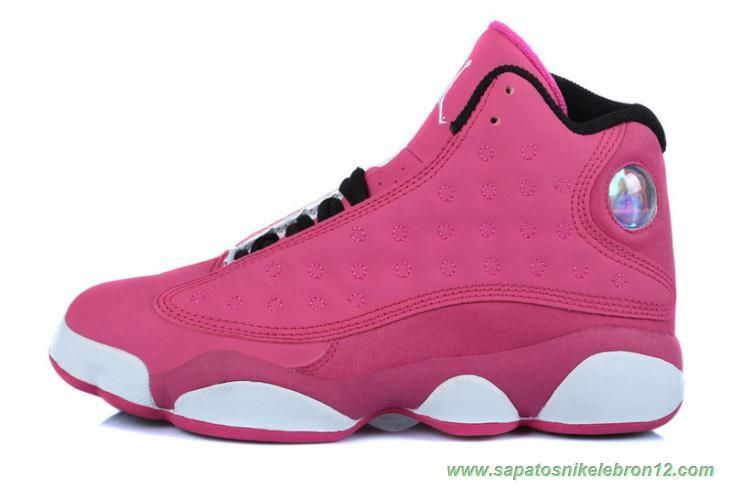 77b9d744399920 tenis barato de marca AIR JORDAN 13 RETRO Rosa Branco Rosa Mulheres. Find  this Pin and more on sapatos Nike ...